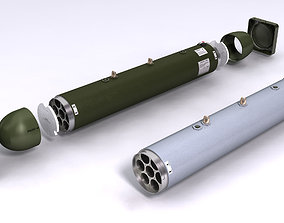 LAU-68 LAU-131 Rocket Launchers for Hydra 70 3D