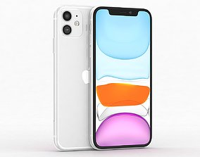 Apple iPhone 11 White 3D asset low-poly