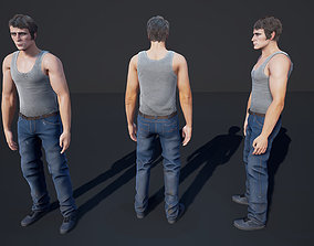 3D asset Man Character Casual 2