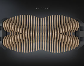 wood Parametric bench 3D