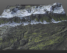 Snowy terrain 8K Texture PBR 3D
