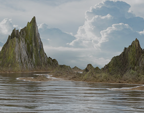Realistic landscape 3D