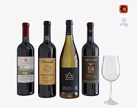 3D model Wine bottle set 3