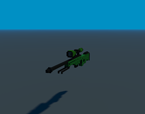 Sniper rifle 3D model realtime