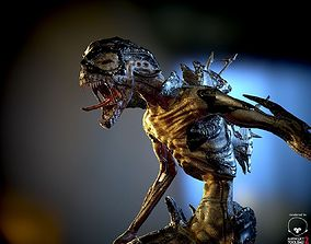 3D asset Armored Alien LowPoly