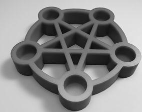 3D printable model Pentagram Candle Holder