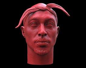 Tupac Shakur Head 3D printable model