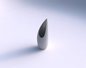 3D printable model Vase Tsunami with strange tiles