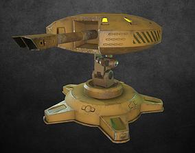 3D asset Sci-fi Turret 2