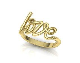 gold-ring Love Inscription Women ring printable 3dmodel