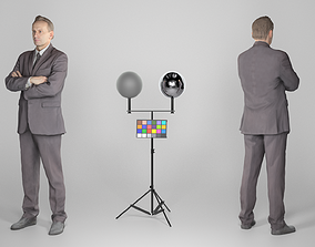 Young businessman posing with crossed arms 216 3D model