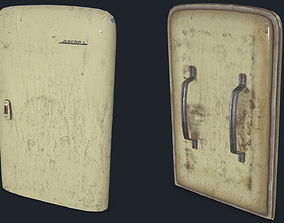 3D asset Post-Apocalypse Shield Fridge-Dnipro