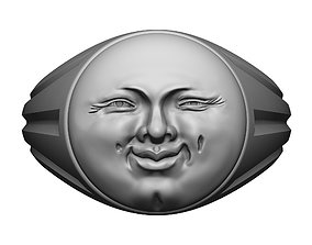 Sun face ring 3D print model