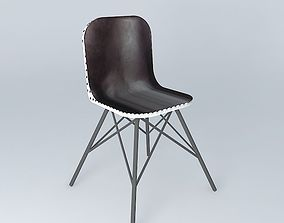 Black chair AUSTERLITZ Maisons du monde 3D model