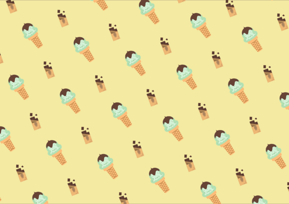 Choco - mint ice cream