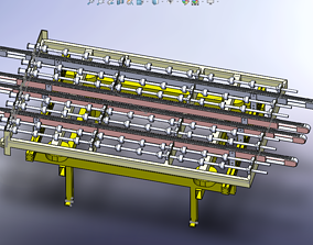 3D model Roller Conveyor roller
