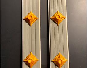 WW2 German Navy Fahnrich Shoulder Boards 3D print model