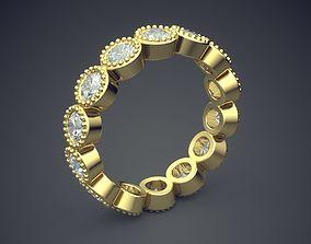 3D printable model Unique Golden Diamond Engagement Ring