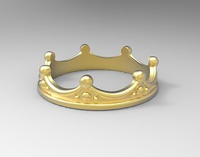 3D printable model ring crown all Sizes