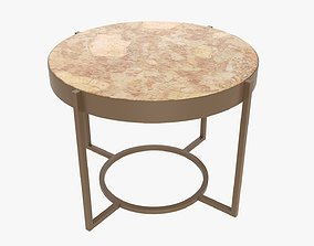 3D PBR Round side table