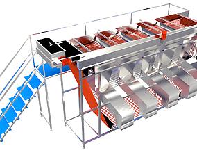 Rope Size Grader Machine 3D model