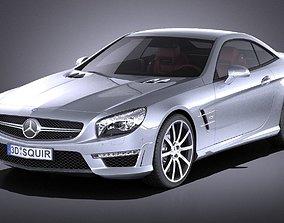 Mercedes - Benz SL 63 AMG 2015 VRAY 3D model