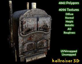 Boiler Furnace - PBR - Old Textured 3D asset