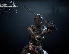 3D model animated DarkLady