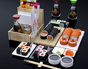 Sushi set 3D