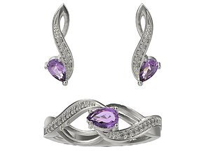 Jewelry ring and earrings 3dm stl