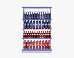 Supermarket Beverage Single Wire Shelf 3D