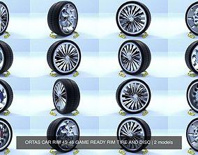 ORTAS CAR RIM 45-46 GAME READY RIM TIRE AND DISC 3D model