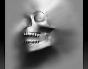 3D Skull monster bas-relief STL file for CNC