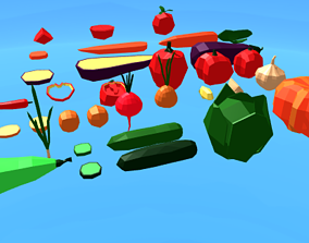 3D asset Vegetables game-ready Pack