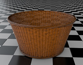 3D rigged Wicker Basket