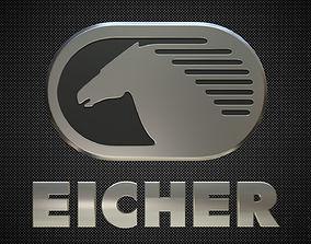 3D model eicher logo