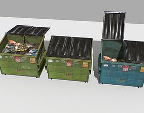 Dumpster Pack 3D asset VR / AR ready