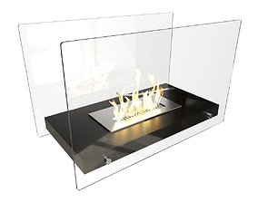 Bio Fireplace Tabletop Design 3D model