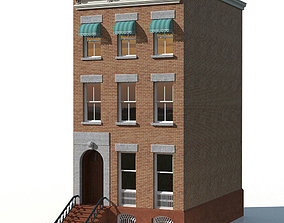 New York Brownstone townhouse 3D model chicago