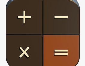 Mathematic Icon 3D model