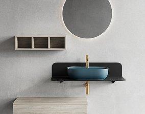 3D asset Scarabeo Ceramiche Plana Vanity Unit Set 1