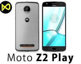 3D model Motorola Moto Z2 Play 2017 Gray