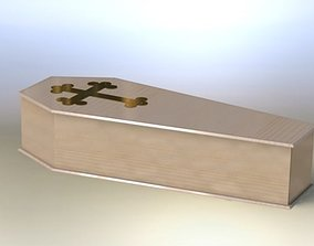 3D model Adult coffin