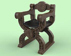 chair medieval 3D printable model