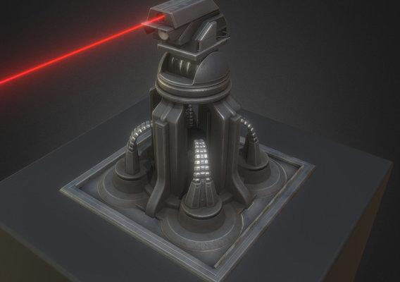 Futuristic Laser Gun Tower