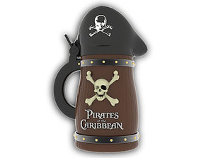 Pirates of the Caribbean Beer Stein 3D printable model 3