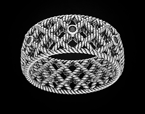 Stylish metal rope ring 459 3D print model