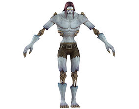 Undead Male Full Rig and HumanIK 3D asset rigged