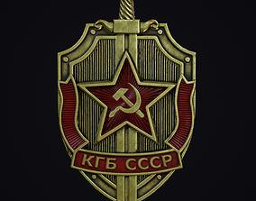 KGB Badge 3D asset