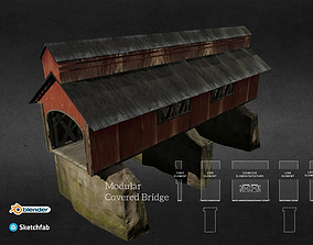 3D model Modular Covered Bridge 3